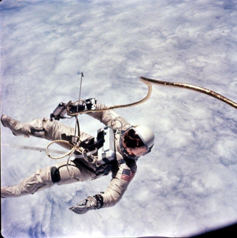 Edward White Gemini spacewalk